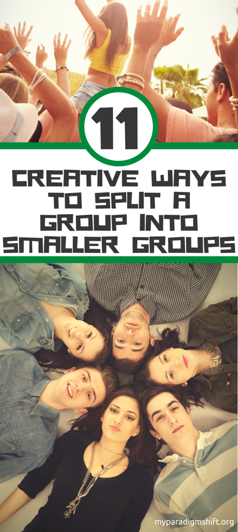 11 Creative Ways to Split a Group Into Smaller Groups